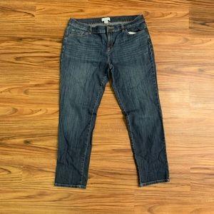Liz Claiborne Women's Dark Wash Boyfriend Jeans